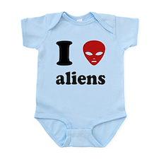 I Love Aliens Infant Bodysuit