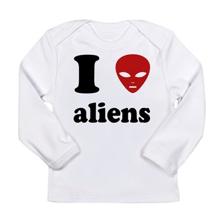 I Love Aliens Long Sleeve Infant T-Shirt