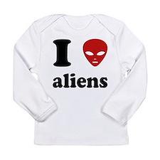 I Love Aliens Long Sleeve Infant T-Shirt