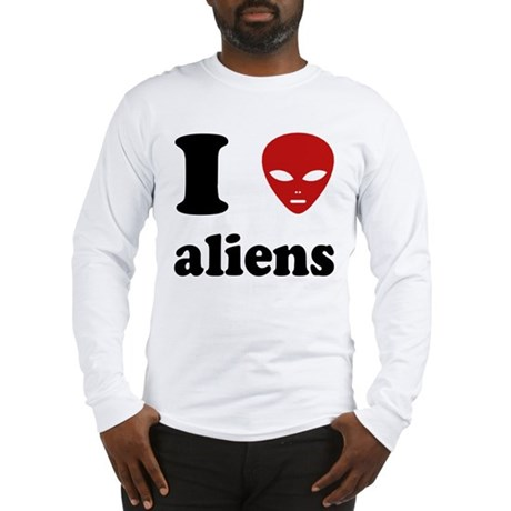 I Love Aliens Long Sleeve T-Shirt