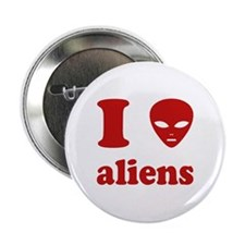 "I Love Aliens 2.25"" Button"