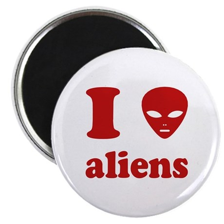 I Love Aliens Magnet