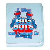 I Like Big Bots baby blanket