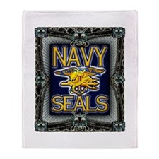 US Navy Seals Skull Throw Blanket