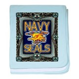 US Navy Seals Skull baby blanket