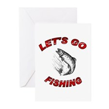 Lets Go fishing Greeting Cards (Pk of 10)