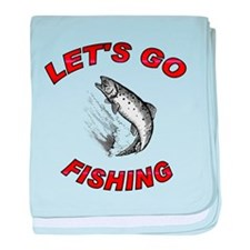 Lets Go fishing baby blanket