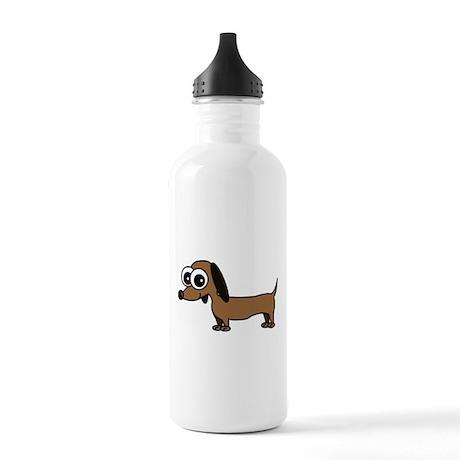 Cute Dachshund Cartoon Stainless Water Bottle 1.0L