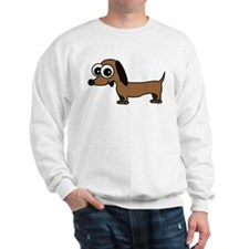 Cute Dachshund Cartoon Sweatshirt