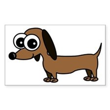 Cute Dachshund Cartoon Decal