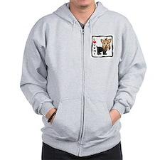 Love My Yorkshire Terrier Zip Hoodie