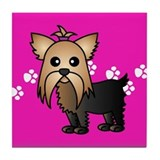 Cute Yorkshire Terrier Tile Coaster