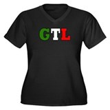 GTL Women's Plus Size V-Neck Dark T-Shirt