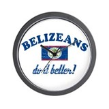 Belizeans Do It Better Wall Clock