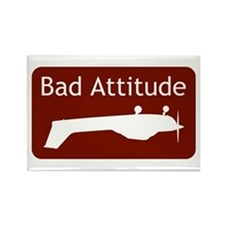 """Bad Attitude"" Rectangle Magnet"