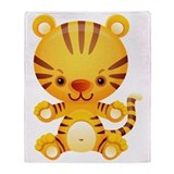 Cute Kawaii Tiger Throw Blanket