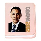 Obama Portrait baby blanket