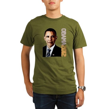 Obama Portrait Organic Men's T-Shirt (dark)