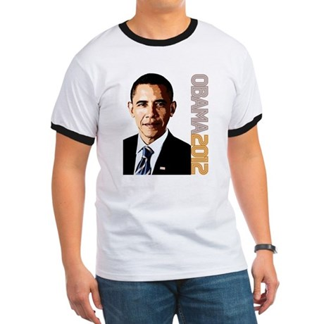 Obama Portrait Ringer T