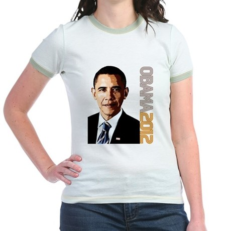 Obama Portrait Jr. Ringer T-Shirt