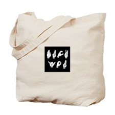 Cute Sign language Tote Bag