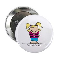 "Captain's Kid Girl 1 2.25"" Button (10 pack)"
