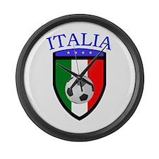 Italian Soccer Large Wall Clock