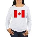 Canadian Flag Women's Long Sleeve T-Shirt