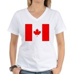 Canadian Flag Women's V-Neck T-Shirt