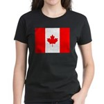 Canadian Flag Women's Dark T-Shirt