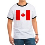 Canadian Flag Ringer T