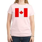 Canadian Flag Women's Light T-Shirt