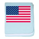 US Flag baby blanket