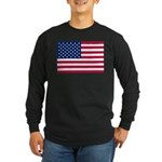 US Flag Long Sleeve Dark T-Shirt