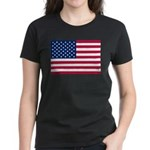 US Flag Women's Dark T-Shirt