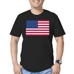 US Flag Men's Fitted T-Shirt (dark)