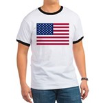 US Flag Ringer T
