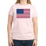 US Flag Women's Light T-Shirt