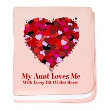 Aunt Loves Me Valentine baby blanket
