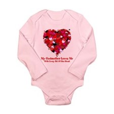 Godmother Loves Me Valentine Baby Suit
