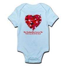 Godmother Loves Me Valentine Infant Bodysuit