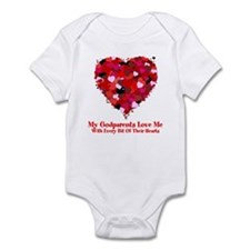 Godparents Love Me Valentine Infant Bodysuit