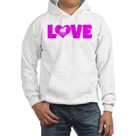 LOVE PIT BULL Hooded Sweatshirt