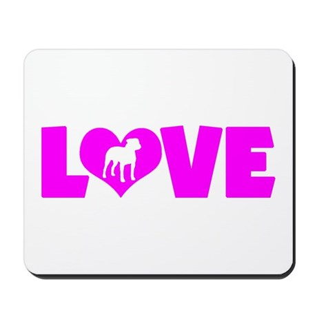 LOVE PIT BULL Mousepad