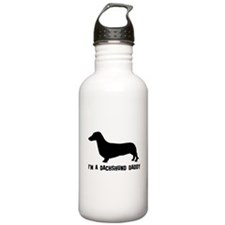 i'm a dachshund daddy Water Bottle