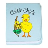Celtic Chick baby blanket