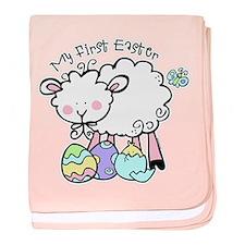 Little Lamb 1st Easter baby blanket