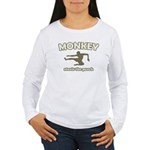Monkey Steals The Peach Women's Long Sleeve T-Shir
