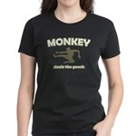 Monkey Steals The Peach Women's Dark T-Shirt