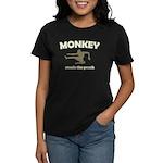Monkey Steals The Peach Women's Dark T-Shirt